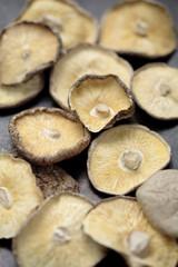 Close up of dried Shitake mushrooms