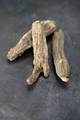 Close up of Kirin red dried ginseng