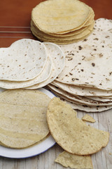 Variety of tortillas