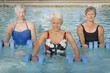 Women exercising in swimming pool