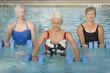 Women exercising in swimming pool