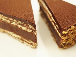 Close up of chocolate tort