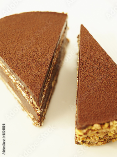 Close up of chocolate tort