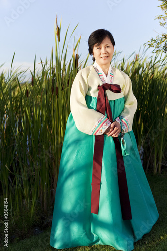 Korean woman in traditional clothing