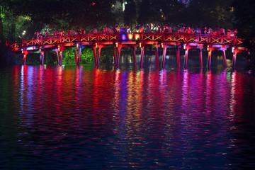 Colorful Vietnamese bridge