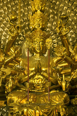 Ornate statue in Vietnamese temple