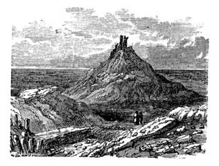 Borsippa or Birs Nimrud, in Babil, Iraq, during the 1890s, vinta