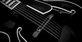 Black Archtop Guitar - 02