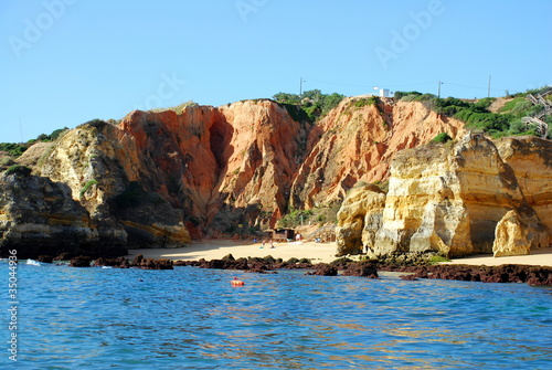 Beach Boneca in Lagos in the Algarve Portugal