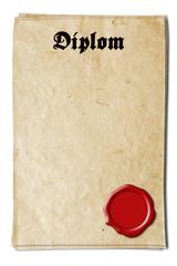 Diplom Urkunde