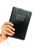 holy bible  on a white background