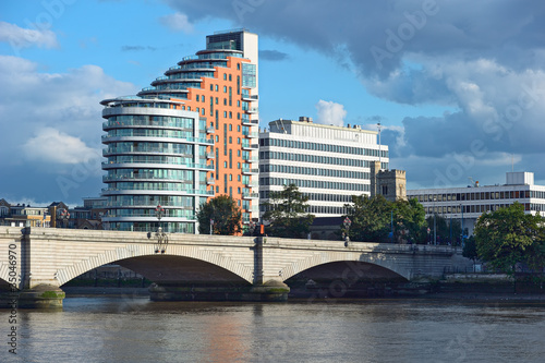 Putney Bridge, on the River Thames, London, UK, Europe
