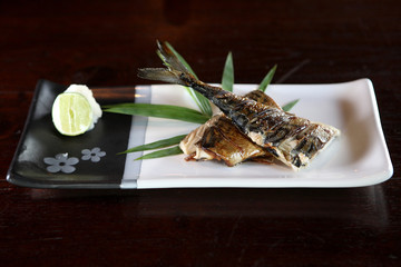 Grill Saba fish japanese food