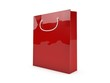 3d Tragetasche, Papiertüte rot / Shopping bag red