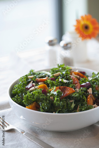 Healthy salad in bowl