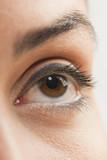 Close up of Caucasian woman's eye