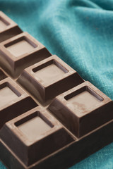 Close up of bar of chocolate