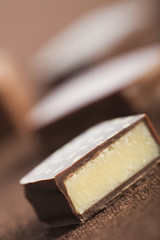 Close up of chocolate candy