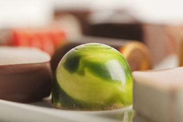 Close up of various candies