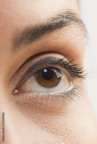 Close up of Caucasian woman's eye