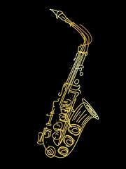 A golden saxophone
