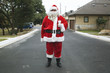 Santa standing in road