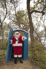 Santa leaving portable toilet