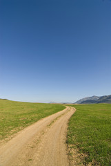 Dirt road in remote countryside