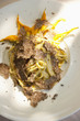Pasta with truffle garnish
