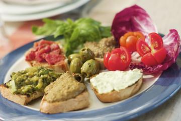 Various Italian crostini