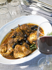 Red wine and rustic Italian stew