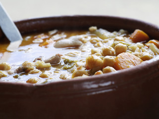 Close up of Portuguese vegetable stew