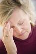 Caucasian woman with headache