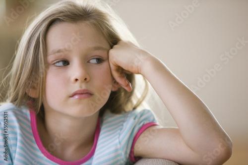 Serious Caucasian girl