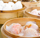 Dim Sum in bamboo steamer,Chinese food style
