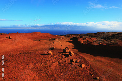 Red earth in remote desert area