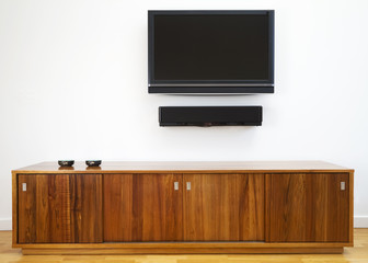 TV and cabinet horizontal