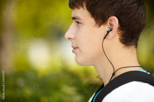 Young attractive man with headphones