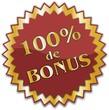 étiquette 100% de bonus