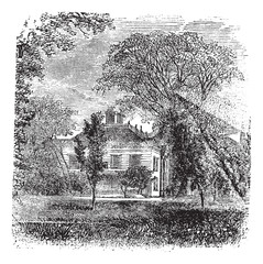 Longfellow ,House, Massachusetts,  Cambridge , America, vintage