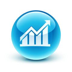 icône graphique économie / graph icon