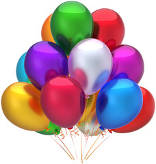 Party balloons birthday decoration shiny multicolored