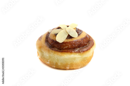Peanut Donut isolated in white background