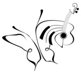 Musical Butterfly - illustration