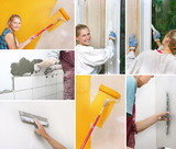 collage of home improvement pictures
