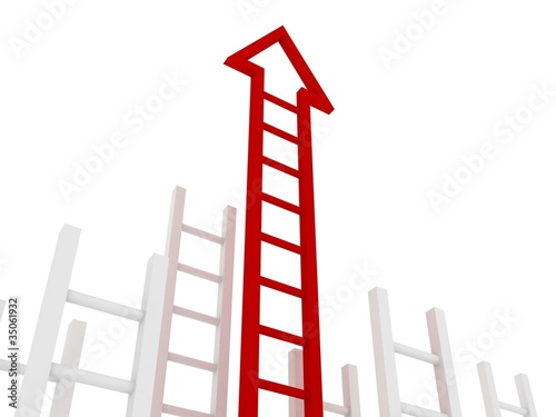 ladder to success business concept
