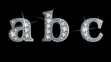 Diamond a, b, c in Lower Case