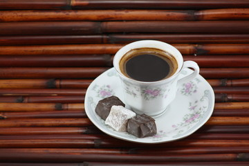 Turkish coffee delight and chocolate