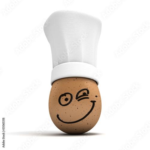 Leinwandbild Motiv Happy gourmet egg