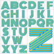 ABC Alphabet background monoton upper design